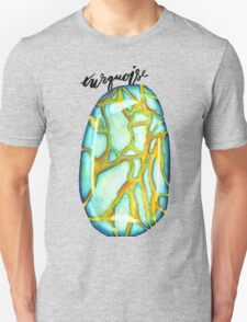 Watercolor Turquoise With Calligraphy – December Birthstone T-Shirt