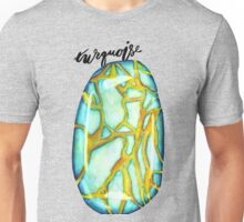 Watercolor Turquoise With Calligraphy – December Birthstone Unisex T-Shirt