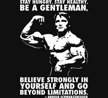 Arnold Schwarzenegger Motivational Quote - Go Beyond Limitations T-Shirt