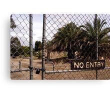 no entry Canvas Print