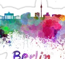 Berlin skyline in watercolor Sticker