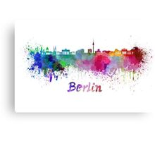 Berlin skyline in watercolor Canvas Print