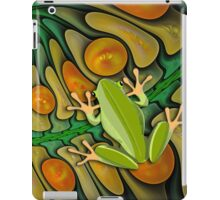 Frog in a Fractal Pool case iPad Case/Skin