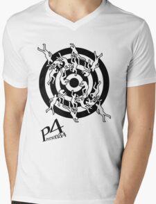 Persona 4 Midnight Channel Shirt Mens V-Neck T-Shirt