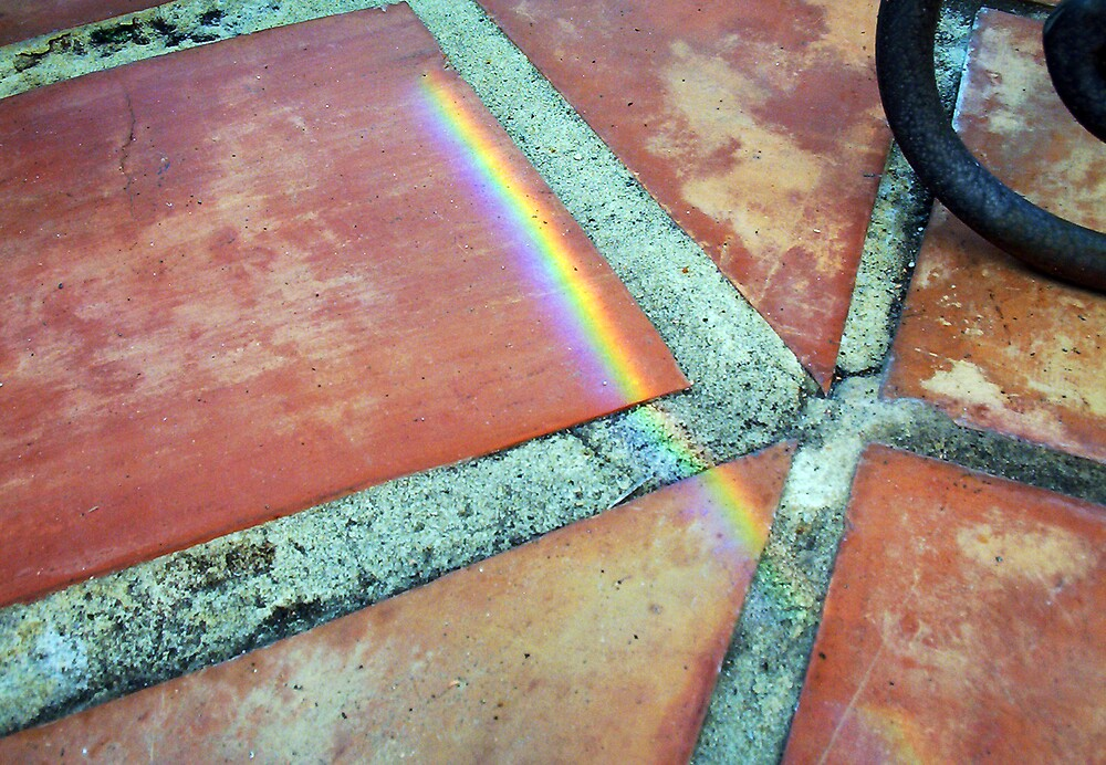 Rainbow On Pavement - Five - 21 11 12 by Robert Phillips