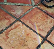 Rainbow On Pavement - Four - 21 11 12 by Robert Phillips