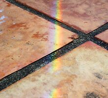 Rainbow On Pavement - Three - 21 11 12 by Robert Phillips