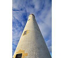 Barns Ness Lighthouse Tower Photographic Print