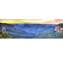 Awe - Govett's Leap, Blackheath ,NSW Australia - The HDR Experience Photographic Print