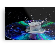 High-speed flash photograph liquid droplet. Metal Print