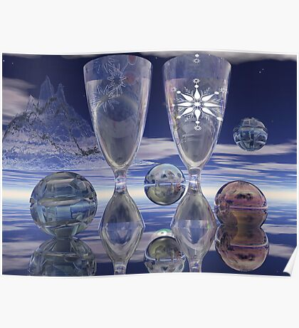Cheers!, surrealistic / fantasy artwork with drinks Poster