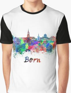Bern skyline in watercolor Graphic T-Shirt
