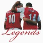 Dennis Bergkamp and Thierry Henry - Legends by Thierry Henry14.net