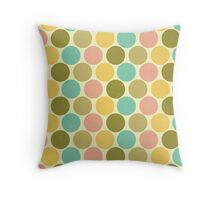 sweet vintage spots pattern Throw Pillow