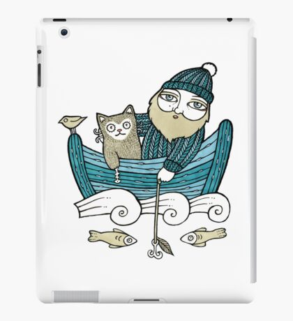 The Fisherman's Cat (Tee) iPad Case/Skin