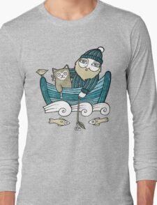 The Fisherman's Cat (Tee) Long Sleeve T-Shirt