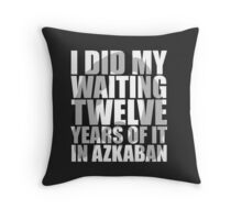 I Did My Waiting Throw Pillow