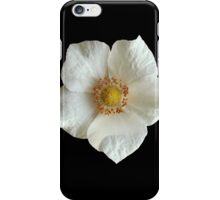 White Flower on Black iPhone Case/Skin