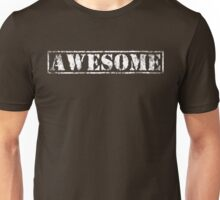 AWESOME (white type) Unisex T-Shirt