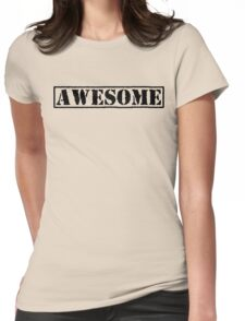 AWESOME - second version (black type) Womens Fitted T-Shirt