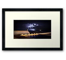 Incoming Storm, Newcastle Ocean Baths Framed Print