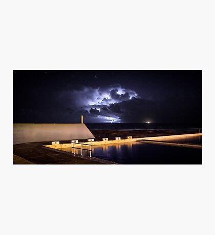 Incoming Storm, Newcastle Ocean Baths Photographic Print
