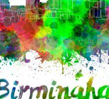 Birmingham AL skyline in watercolor Sticker