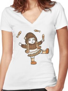 Fern's Fun at the Fringe Women's Fitted V-Neck T-Shirt