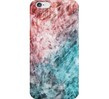 Red and Blue Frost Abstract iPhone Case/Skin