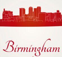 Birmingham AL skyline in red Sticker