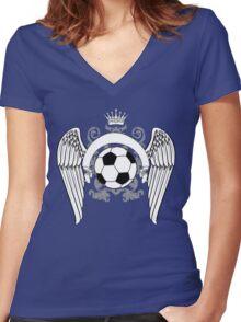 love football Women's Fitted V-Neck T-Shirt