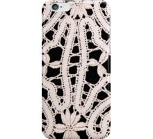 White Lace on Black iPhone Case/Skin