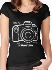 Amateur Photographer  Women's Fitted Scoop T-Shirt