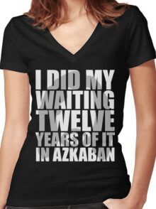 I Did My Waiting Women's Fitted V-Neck T-Shirt
