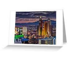 Vegas Lights Greeting Card