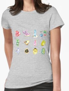 Watercolor Birthstones Womens Fitted T-Shirt