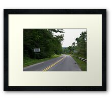 Road signs Framed Print