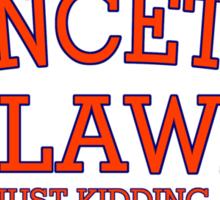 Princeton Law Sticker