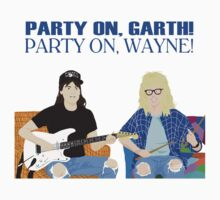 WAYNE'S WORLD - Party On! Kids Tee