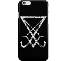 THE SIGIL OF LUCIFER - destroyed white iPhone Case/Skin