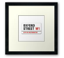 Oxford Street, London Street Sign, UK Framed Print