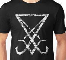 THE SIGIL OF LUCIFER - destroyed white Unisex T-Shirt