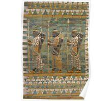 Assyrian military parade, Pergamon Museum, Berlin Poster
