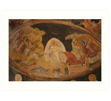 The Anastasis fresco in Chora Church Turkey Art Print