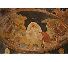 The Anastasis fresco in Chora Church Turkey Photographic Print