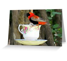 """""""Please join me for high tea?"""" Greeting Card"""