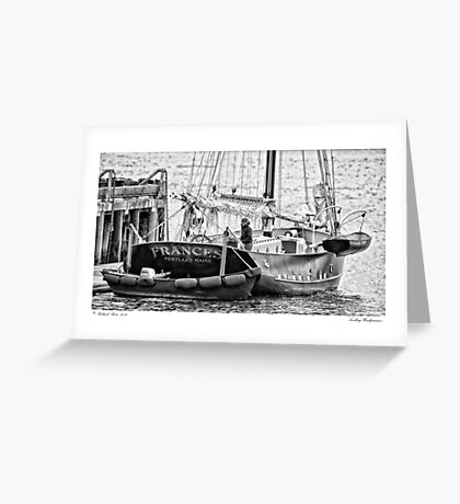 Tending Windjammer Greeting Card