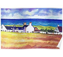 White Cottages at Balmedie Poster