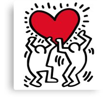 Keith Haring Big Love Canvas Print