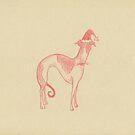 sighthound santa by laureliz